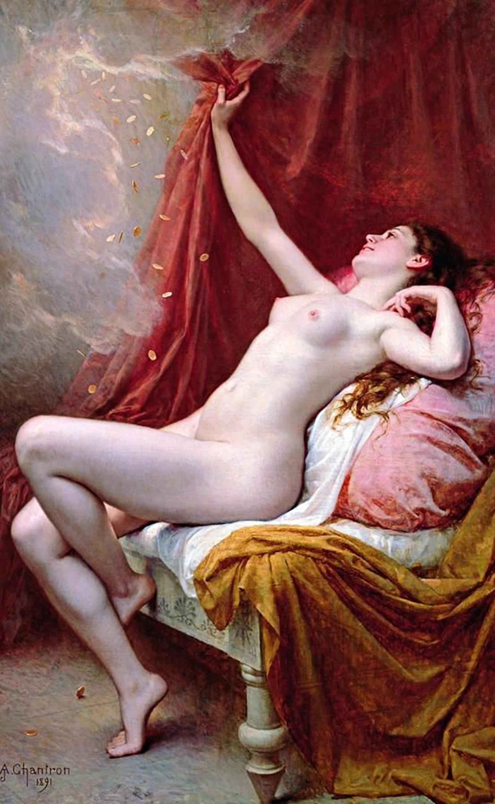 Danaé, Alexandre-Jacques Chantron, 1891, musée des Beaux-Arts de Rennes - Twelve Magazine